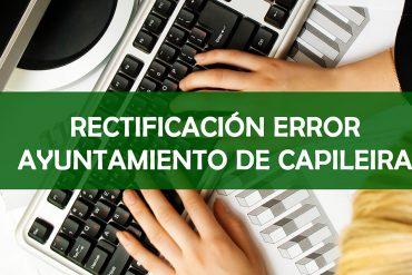RECTIFICACIÓN DE ERROR