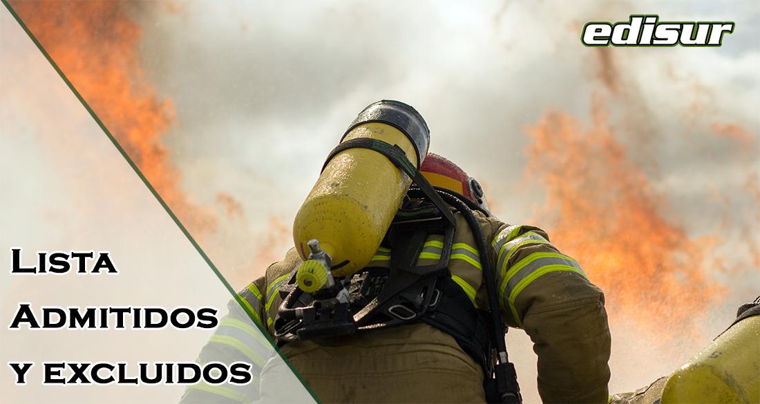Lista admitidos y excluidos para plaza bombero - conductor