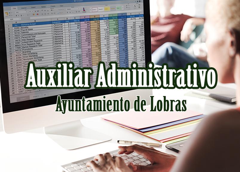 auxiliar Administrativo en el ayuntamiento de Lobras