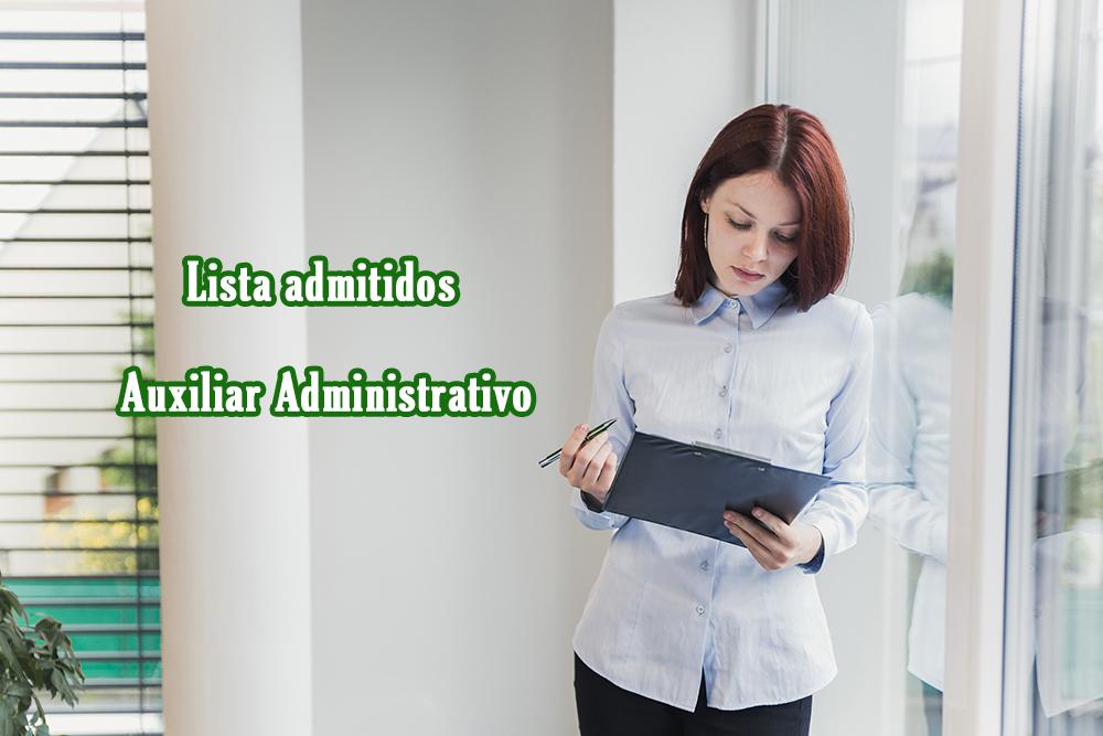 Lista admitidos Auxiliar Administrativo