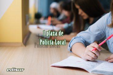 Bases para la provisión de una plaza de Policía Local ❗️