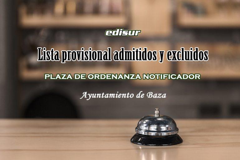 ordenanza notificador Ayuntamiento de Baza