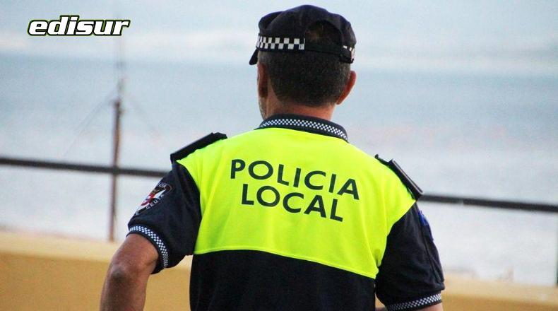 Policía local en Huelva
