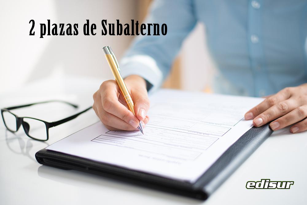 Abierto el plazo de presentación de solicitudes para plazas de Subalterno