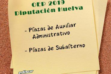 Se hace pública la OEP 2019 de la Diputación de Huelva