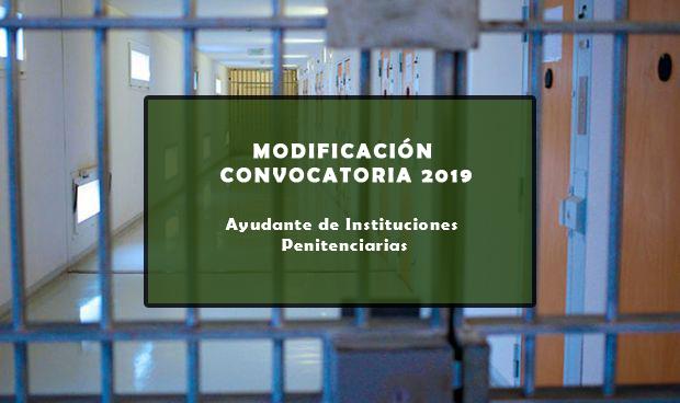 Modificación de la convocatoria 2019 de pruebas selectivas acceso libre