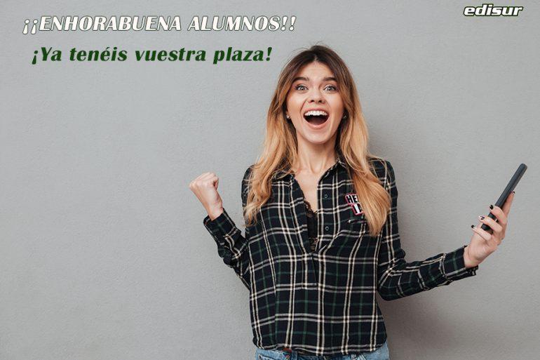 ¡¡ENHORABUENA ALUMNOS/AS DE EDISUR!! 🎉