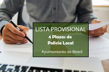 Resolución aprobando lista provisional admitidos/as excluidos/as en Motril