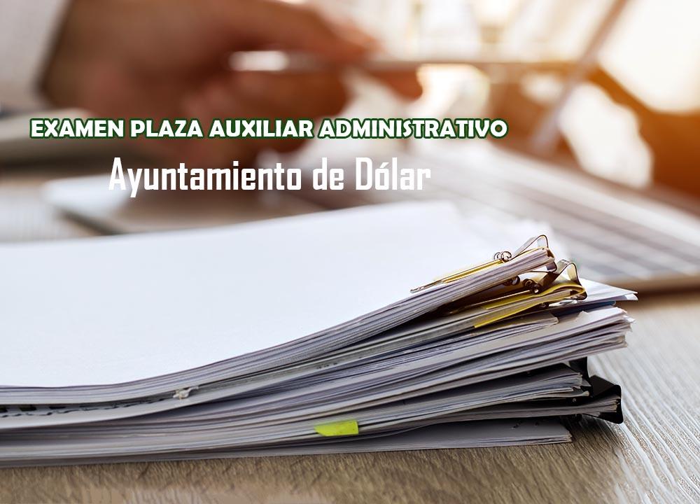 Primer ejercicio a plaza de Auxiliar Administrativo en Dólar, Granada